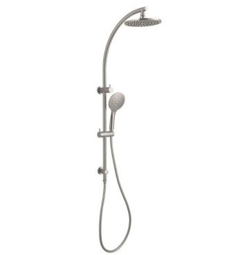 NERO DOLCE TWIN SHOWER SYSTEM BRUSHED NICKEL