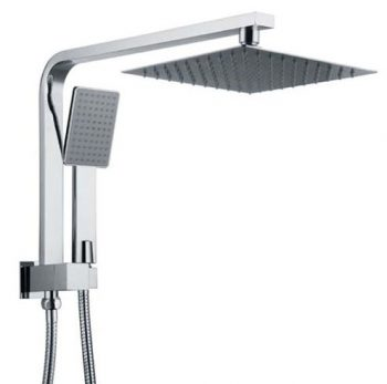 HELLYCAR ERIC OVERHEAD SHOWER WITH HANDHELD SHOWER CHROME Product Image 1