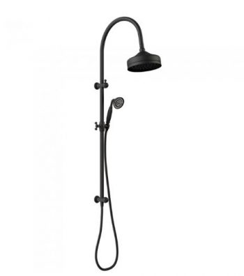 FIENZA LILLIAN TWIN RAIL SHOWER MATTE BLACK