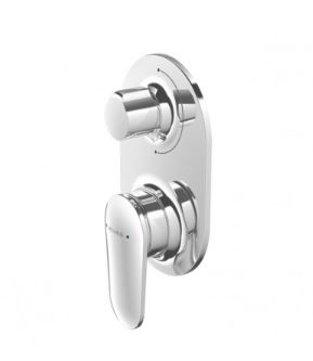 METHVEN AIO WALL MIXER WITH DIVERTER CHROME Product Image 1