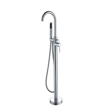 STREAMLINE AXUS PIN BATH FILLER WITH HANDSHOWER SATIN NICKEL