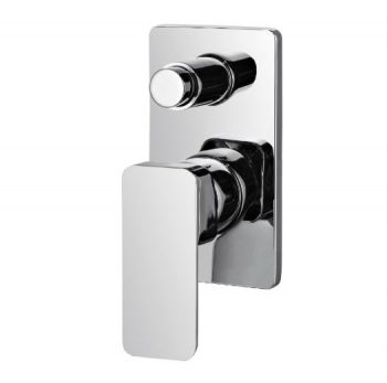 STREAMLINE AXUS WALL MIXER WITH DIVERTER MATTE BLACK Product Image 1