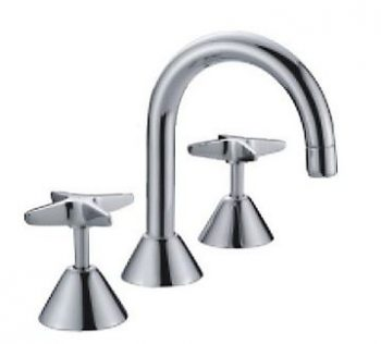 AUSSIELIFE CROSS HANDLE BASIN SET CHROME