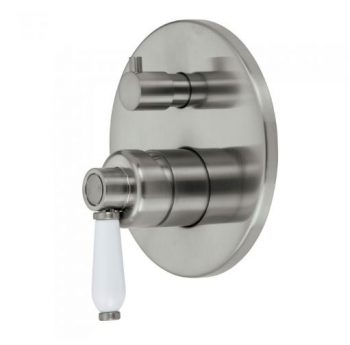 FIENZA ELANORE WALL MIXER WITH DIVERTER BRUSHED NICKEL