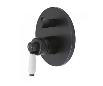 FIENZA ELANORE WALL MIXER WITH DIVERTER MATTE BLACK Product Image 1