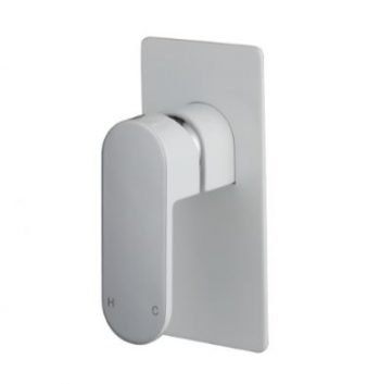 MODERN NATIONAL EVA MINI WALL MIXER WHITE AND CHROME Product Image 1