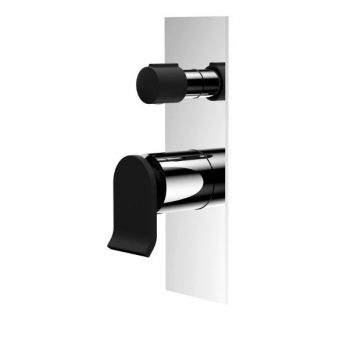 FIENZA LINCOLN WALL MIXER WITH DIVERTER MIXED FINISH