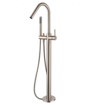 MODERN NATIONAL FREESTANDING BATH FILLER WITH HANDSHOWER FLEMISH COPPER