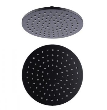 NERO 250MM ROUND SHOWER ROSE MATTE BLACK