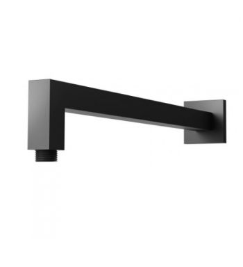 NERO SQUARE WALL MOUNTED SHOWER ARM MATTE BLACK