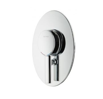 METHVEN OVALO WALL MIXER WITH DIVERTER CHROME