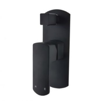 MODERN NATIONAL PEONY WALL MIXER WITH DIVERTER MATTE BLACK