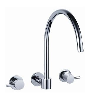 AUSSIELIFE PIN WALL SINK SET CHROME