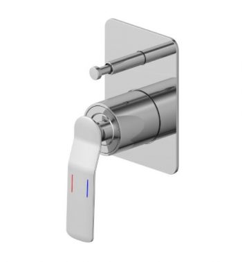STREAMLINE SYNERGII WALL MIXER WITH DIVERTER SATIN NICKEL