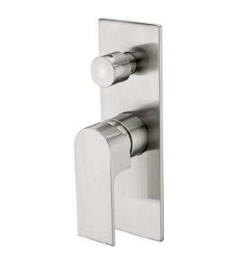 NERO VITRA WALL MIXER WITH DIVERTER BRUSHED NICKEL