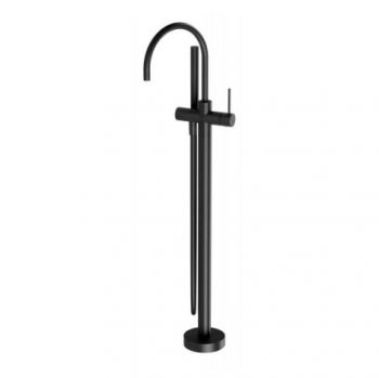PHOENIX VIVID SLIMLINE BATH FILLER WITH HANDSHOWER MATTE BLACK