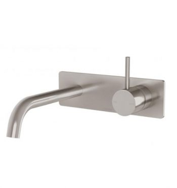 PHOENIX VIVID SLIMLINE UP WALL BASIN / BATH MIXER SET BRUSHED NICKEL