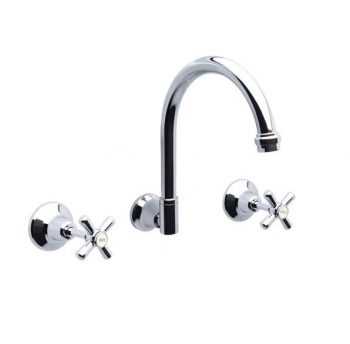 AUSTWORLD WHITEHALL WALL SINK SET CHROME