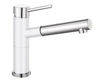 BLANCO ALTA PULL OUT SINK MIXER WHITE Product Image 1