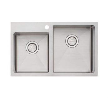 OLIVERI APOLLO ONE AND THREE QUARTER BOWL OFFSET TOPMOUNT SINK - RHB & LHB AVAILABLE