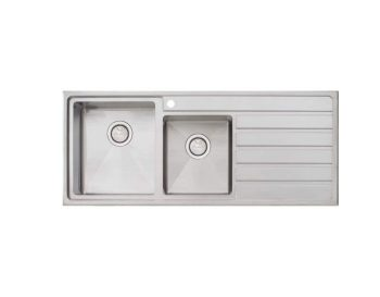 OLIVERI APOLLO ONE AND THREE QUARTER BOWL TOPMOUNT SINK WITH DRAINER – RHB & LHB AVAILABLE Product Image 1