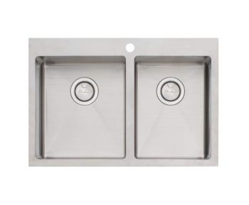 OLIVERI APOLLO ONE AND THREE QUARTER BOWL TOPMOUNT SINK – RHB & LHB AVAILABLE Product Image 1