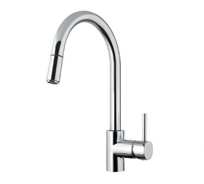 ABEY ARMANDO VICARIO GOOSENECK SINK MIXER WITH PULL OUT CHROME Product Image 1