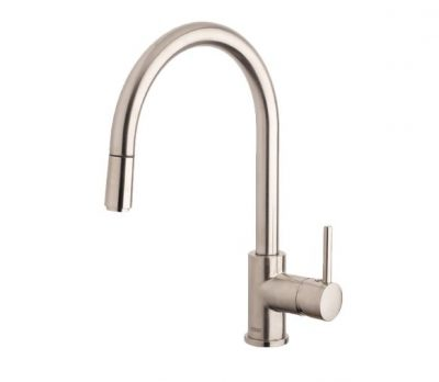 ABEY ARMANDO VICARIO GOOSENECK SINK MIXER WITH PULL OUT BRUSHED NICKEL