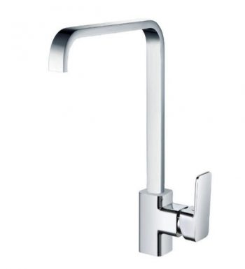STREAMLINE AXUS SINK MIXER WITH SQUARE GOOSENECK CHROME