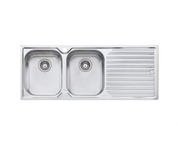 OLIVERI DIAZ DOUBLE BOWL SINK WITH DRAINER – RHB & LHB AVAILABLE Product Image 1