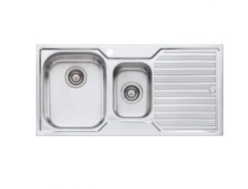 OLIVERI DIAZ ONE AND HALF BOWL SINK WITH DRAINER – RHB & LHB AVAILABLE Product Image 1