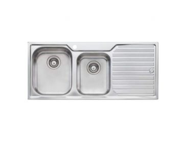 OLIVERI DIAZ ONE AND THREE QUARTER BOWL SINK WITH DRAINER – RHB & LHB AVAILABLE Product Image 1