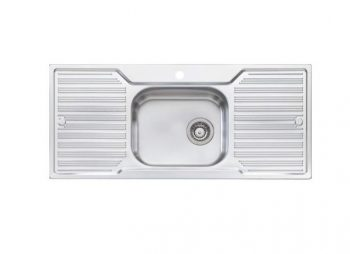 OLIVERI DIAZ SINGLE BOWL SINK WITH DOUBLE DRAINER Product Image 1