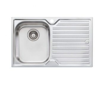 OLIVERI DIAZ SINGLE BOWL SINK WITH DRAINER – RHB & LHB AVAILABLE Product Image 1