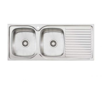 OLIVERI ENDEAVOUR DOUBLE BOWL SINK WITH DRAINER - RHB & LHB AVAILABLE