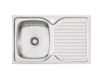 OLIVERI ENDEAVOUR SINGLE BOWL SINK WITH DRAINER – RHB & LHB AVAILABLE Product Image 1