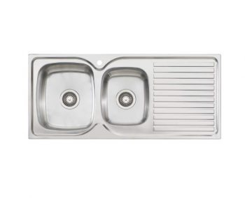 OLIVERI ENDEAVOUR ONE AND THREE QUARTER BOWL SINK WITH DRAINER – RHB & LHB AVAILABLE Product Image 1