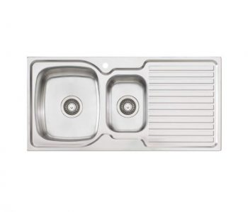 OLIVERI ENDEAVOUR ONE AND HALF BOWL SINK WITH DRAINER – RHB & LHB AVAILABLE Product Image 1