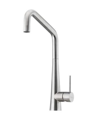 OLIVERI ESSENTE STAINLESS STEEL SQUARE GOOSENECK SINK MIXER Product Image 1