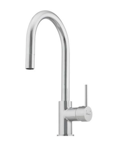 OLIVERI ESSENTIALS GOOSENECK SINK MIXER WITH PULL OUT CHROME Product Image 1