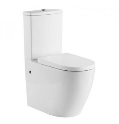 CERAMIC EXCHANGE RAISED HEIGHT BACK TO WALL TOILET SUITE Product Image 1