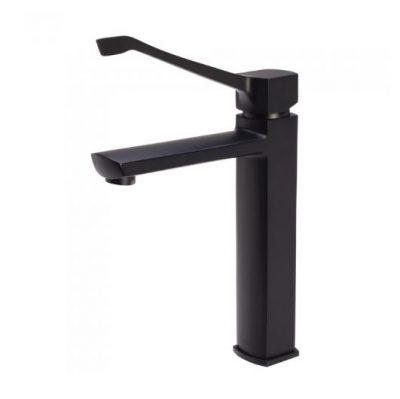 FIENZA KOKO CARE MEDIUM HEIGHT BASIN MIXER MATTE BLACK Product Image 1