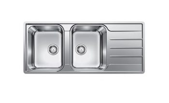 BLANCO LEMIS DOUBLE BOWL SINK WITH DRAINER - RHB & LHB AVAILABLE