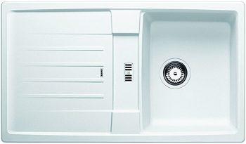 BLANCO LEXA SILGRANIT SINGLE BOWL SINK WITH DRAINER WHITE Product Image 1