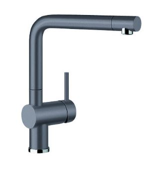 BLANCO LINUS PULL OUT SINK MIXER ROCK GREY