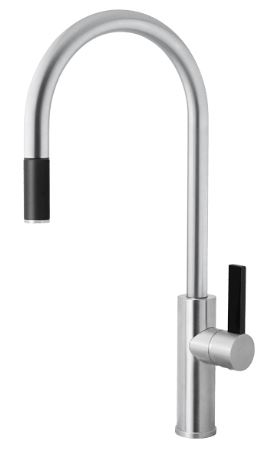 ABEY ARMANDO VICARIO LUZ SINK MIXER WITH PULL OUT BRUSHED CHROME