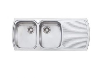 OLIVERI MONET DOUBLE BOWL SINK WITH DRAINER - RHB & LHB AVAILABLE