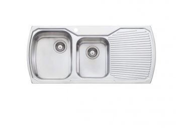 OLIVERI MONET ONE AND THREE QUARTER BOWL SINK WITH DRAINER - RHB & LHB AVAILABLE