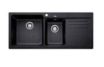 BLANCO NAYA SILGRANIT ONE AND HALF BOWL SINK WITH DRAINER ANTHRACITE Product Image 1