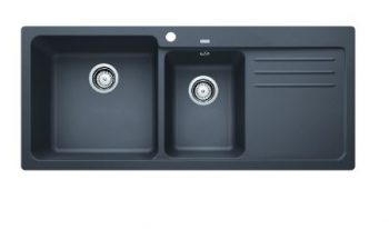 BLANCO NAYA SILGRANIT ONE AND HALF BOWL SINK WITH DRAINER ROCK GREY